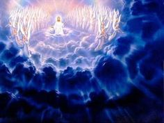 images of jesus in heaven. In all 3 views, Jesus returns again. Religious Pictures, Jesus Pictures, Pictures Images, Bible Pictures, Religious Art, Jesus Second Coming, Christian Wallpaper, God Loves You, Christ