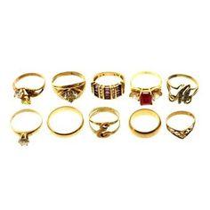 Gold Rings, 10 Rings http://www.propertyroom.com/l/gold-rings-10-rings/9684585