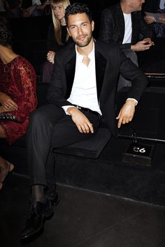 teamnoahmills:    Noah Mills on Dolce Fashion show front row