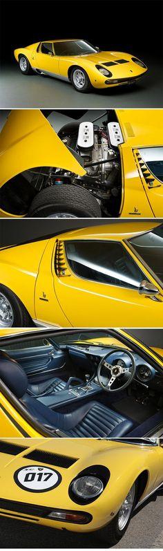 1972 Lamborghini Miura SV Coupé Coachwork by Carrozzeria Bertone #lamborghiniclassiccars