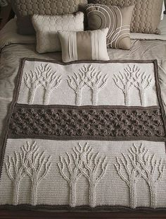 Crochet Afghans Ideas Tree of Life Afghan Free Crochet Pattern - Tree of Life Crochet Afghan Pattern Crochet Afghans, Motifs Afghans, Crochet Motifs, Afghan Crochet Patterns, Knitting Patterns, Crochet Blankets, Crochet Stitches, Crochet Cushions, Crochet Blocks