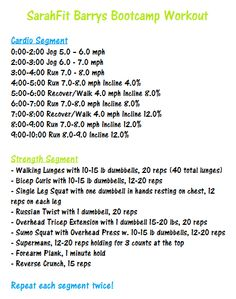 SarahFit Barrys Bootcamp style workout