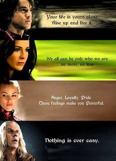 Legend of the Seeker/ sword of truth quotes from main characters