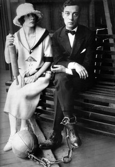 Buster Keaton and Natalie Talmadge, cutest couple ever.