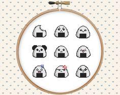 Kawaii cross stitch pattern pdf - instant download - modern cross stitch - asian cross stitch - japanese cross stitch - food cross stitch by GentleFeather on Etsy https://www.etsy.com/listing/280759524/kawaii-cross-stitch-pattern-pdf-instant
