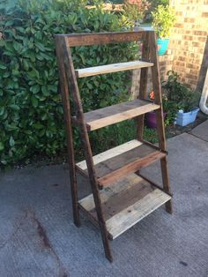 Ana White | Pallet wood painter's ladder shelf - DIY Projects