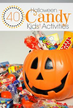 Why EAT it - when you can PLAY with it? 40 Fun Halloween Candy Activities for Kids. Candy MATH, LANGUAGE, ART, & CRAFTS! {One Time Through}
