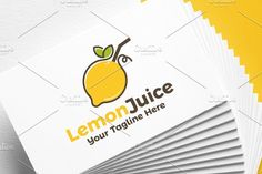 Lemon Juice | Logo Template by REDVY on @creativemarket