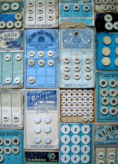 vintage button cards - I have at least one of these designs in my collection