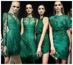 Brides mates green dresses