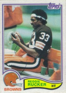 Reggie Rucker 1982 Topps #72 football card Nfl Football Players, Football Memes, Football Cards, Baseball Cards, Cleveland Browns History, Cleveland Browns Football, American Football, Game, Sports