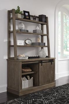 Luxenford Grayish Brown Home Office Desk Hutch by Ashley Furniture City Furniture, Home Office Furniture, Steel Furniture, Furniture Ideas, Cheap Furniture, Discount Furniture, Furniture Design, Furniture Market, Upcycled Furniture