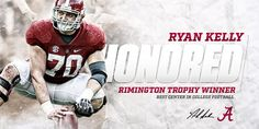 Ryan Kelly - Alabama Crimson Tide - 2015 Rimington Trophy Winner - Best Center in College Football  https://oddsjunkie.com <--  free football info and bets