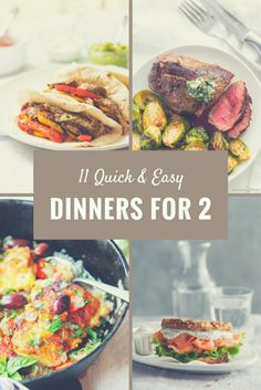 11 Quick & Easy Dinners for Two  #Dinner comes tog…