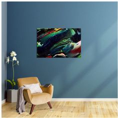 Digitally liquified and colourful art print for your walls.. Abstract expression that matches different styles and ages!