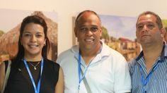 "Factor 3: Profesores. Profesores Asistentes y Organizadores de la ""5ta. Cumbre Mundial de Comunicación Política"" – 2014 – De izquierda a derecha Bertha Arnedo, Ricardo Chica y Milton Cabrera. #Unicartagena #ComunicaciónSocial"