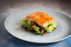 Maple Glazed Salmon with Sprout Petals