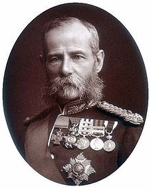 """Frederick Roberts, 1st Earl Roberts, Bc,VC,KG,GCB,OM,GCSI,GCIE,KStJ,VD,PC. Touted as """"Our other General"""" next to Garnet Wolseley,""""Bobs"""" Roberts was most famous for his success in the Second Boer War.He won the Victoria Cross captuing an enemy standard during the 1857 Indian Rebellion. It is said that during the fight over the standard, a rebellious Sepoy pressed his musket barrel against Roberts and pulled the trigger, but the weapon misfired."""