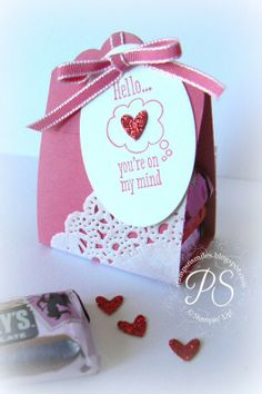 Quick Valentine Treats using the Scalloped Tag Topper Punch