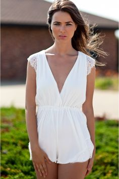 sweet, white romper