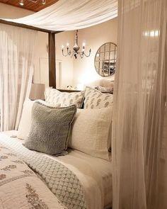 comfortable romantic bedroom decor design and ideas 41 Romantic Bedroom Decor, Cozy Bedroom, Dream Bedroom, Master Bedroom, Bedroom Ideas, Shabby Bedroom, Master Master, Romantic Room, King Bedroom