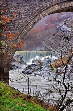 'The old bridge and the waterfall' by Hercules Milas Love Bridge, Arch Bridge, Old Greek, Old Stone, Macedonia, Hercules, Bridges, Travel Mug, Remote
