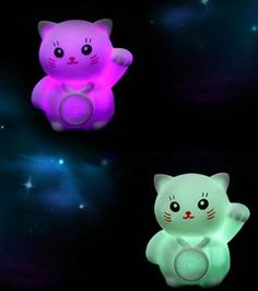 5 pcs Baby loved Lucky Cat,Simple and Modern Decrative Style,Colorful Flash LED Lamp Romantic Decoration Night Light 7 Color AUTO Changed,For Easy baby sleeping time
