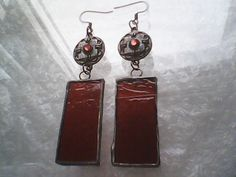Vintage style stained glass earrings