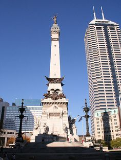Soldiers' and Sailors' Monument in Indianapolis.