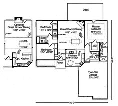 Traditional Style House Plan   3 Beds 2.00 Baths 1481 Sq/Ft Plan #46