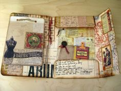 Another awesome 7 gypsies portfolio   (Between a journal and a mini album!)