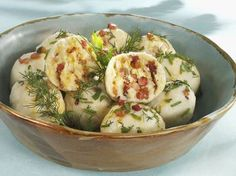 This recipe for these Polish potato dumplings originated in Silesia, a region in Poland with parts of it in the Czech Republic and Germany.