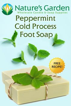 Free Peppermint Cold Process Foot Soap Recipe by Natures Garden