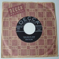 Ricky Nelson - 45 Ricky Nelson, Vintage Records, Shellac, 1960s, Sleeves, Image, Cap Sleeves