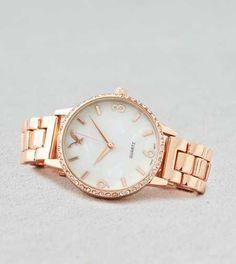 Reloj con bisel de oro rosado AEO - Compra una prenda y obtén otra con un 50% de descuento