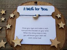 Your place to buy and sell all things handmade Wish Bracelets, Silver Bracelets, Moon Jewelry, Wishes For You, Moon Charm, Paper Cover, Make A Wish, Apple Watch Bands, To My Daughter