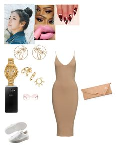 """""""Date night"""" by danillove14 on Polyvore featuring Puma, pinkage, Versace, Juicy Couture, Rebecca Minkoff, Karine Sultan, Samsung, Valentino and Christian Louboutin"""