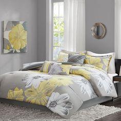 Madison Park Freya 7-piece Comforter Set, Yellow