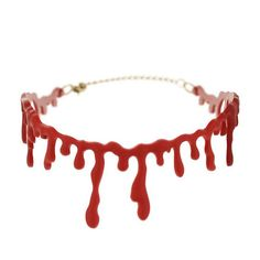 This Bloody Cutthroat Necklace Choker gives the impression that the wearer's throat has been slit open.