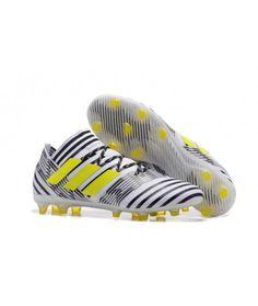 low priced 3755a ab67c Adidas Nemeziz 17.1 FG FAST UNDERLAG ACC Svart Vit Grön Fotbollsskor