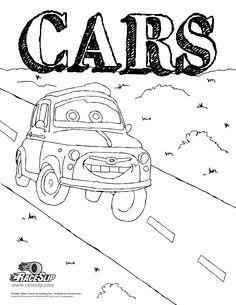 Cars Coloring sheet!