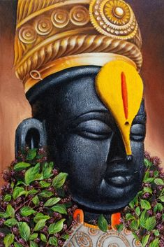 Lord Ganesha Paintings, Lord Shiva Painting, Krishna Painting, Krishna Art, Radhe Krishna, Hanuman, Ganesh Images, Lord Krishna Images, Shri Ram Photo