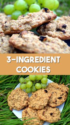 Healthy Cookies Recipe with banana oats and raisins Can be made gluten free No sugar no butter no flour and easy to make vegan veganrecipe vegancookie healthyrecipe healthytreat Healthy Cookie Recipes, Healthy Sweets, Healthy Baking, Vegan Desserts, Healthy Drinks, Baby Food Recipes, Vegan Recipes, Cooking Recipes, Healthy Food
