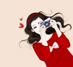 Image about girl in Enakei 🎀 by Dsantt on We Heart It Cartoon Girl Images, Cute Cartoon Girl, Cute Girl Drawing, Cute Drawings, Anime Korea, Girly M, Korean Art, Korean Anime, Girly Pictures
