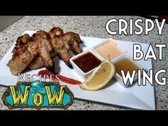 Broiled Saffron Chicken Wings with 3 dipping sauces. DELICIOUS!