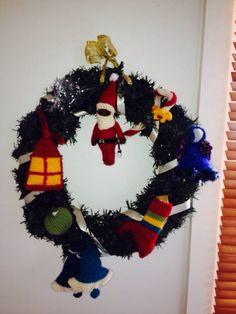 Xmas wreath: made for Katharine Xmas 2013