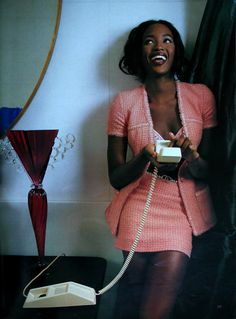 """""""Moderne Zeiten"""", Marie Claire Germany, January 1995  Photographer: Karl Lagerfeld  Model: Naomi Campbell    ( Source: Imc Magazine )"""