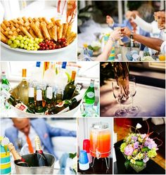 Bridal shower food & drink display idea