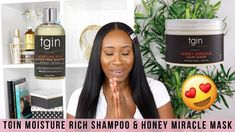 In this video I share with you another favourite of mine and that's the TGIN Moisture Rich Sulfate Free Shampoo and TGIN Honey Miracle Hair Mask. Healthy Relaxed Hair, Healthy Hair, Tresemme Keratin Smooth, Get Thicker Hair, Hair Porosity, Hair Regimen, Hair Remedies, Hair Loss Treatment, Hairstyle