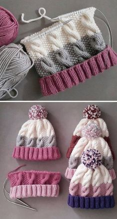Cozy Cable Knit Hat - Free Pattern - Knitting is as easy as 3 The knitting . Cozy Cable Knit Hat - Free Pattern - Knitting is as easy as 3 Das Str .